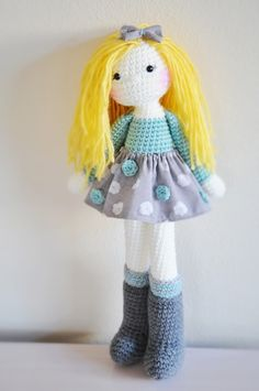 Crochet doll, made by me :)  www.linamariedolls.etsy.com