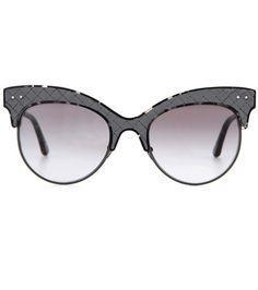 Bottega Veneta Leather-trimmed Sunglasses For Spring-Summer 2017