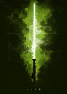 "Official Star Wars Character Lightsabers Luke Skywalker #Displate artwork by artist ""Star Wars"". Part of a set featuring lightsabers from the popular #StarWars film franchise. £35 / $50 (Medium), £71 / $100 (Large), £118 / $166 (XL) #ThePhantomMenace #AttackOfTheClones #RevengeOfTheSith #ANewHope #TheEmpireStrikesBack #ReturnOfTheJedi #TheForceAwakens #TheLastJedi #RogueOne #SoloAStarWarsStory #Lightsaber #LukeSkywalker"