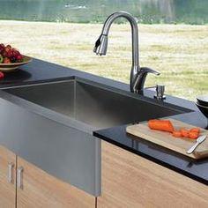 VIGO VG15004 Single Basin Farmhouse Kitchen Sink and