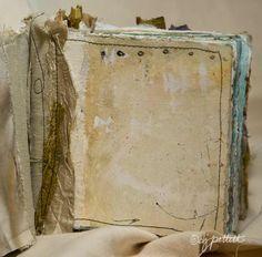 sewn art journal.