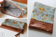 How to make a leather accent clutch! #DIY #sew #purse