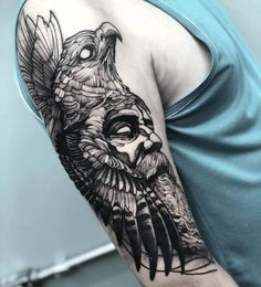 Tattoo Designer Fredao Oliveira Archive Lots of people get tattoo's given that they believe that tattoos are very awesome, and they are. Tattoo Sleeve Designs, Tattoo Designs Men, Sleeve Tattoos, Zeus Tattoo, Raven Tattoo, Hunter Tattoo, Scandinavian Tattoo, Barbed Wire Tattoos, Spartan Tattoo