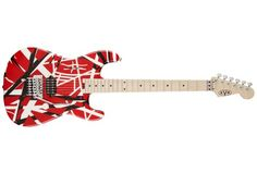 Evh Stripe Red  Evh Stripe Red e-guitar, basswaood body, maple neck, maple fretboard, 22 jumbo frets, 43mm thomann nut width, scale 648mm, floyd rose tremolo with EVH D-Tuna, 1x wolfgang humbucker, 1 volume control, chrome hardware, finish red with black stripes.