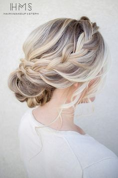 Beautiful, yet simple updo for your wedding day! | Hairandmakeupbysteph.com