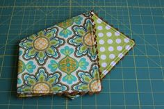 Reversible Cloth Napkin tutorial.  I am using it to make a baby doll blanket.
