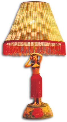 Vintage Motion Hula Lamp [Hula Girl Posing] - Decorative Ornaments - Hawaiian Goods | AlohaOutlet SelectShop