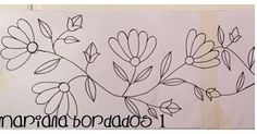 Patrón para bordar Parte 1 ✏️✏️✏️✏️✏️✏️ #bordado #flores #marianabordados #bordardapaz Que tengan una linda semana!!! Embroidery Hoop Crafts, Mexican Embroidery, Embroidery Flowers Pattern, Hand Embroidery Stitches, Crewel Embroidery, Hand Embroidery Designs, Applique Patterns, Hand Quilting, Applique Designs