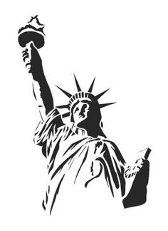 Airbrush-Wall-Art-Paint-Stencil-Genuine-Mylar-Re-Useable-STATUE-OF-LIBERTY