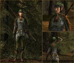 Fantastic Elvish scout by Ruthelia, combining a wide variety of pieces.