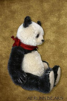 Mulan Panda Style Artist Bear PDF Pattern by Aerlinn Bears