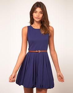 tank dress with puffball skirt - add a snakeskin belt