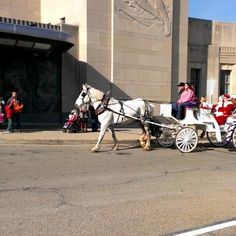 Santa pulling up to Union Terminal
