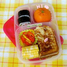 Bentos on the Bayou: Look Lunch - Grilled Cheese @EasyLunchboxes
