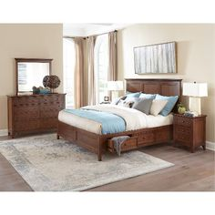 Casual Classic Brown 6 Piece Queen Bedroom Set - St. Mortiz