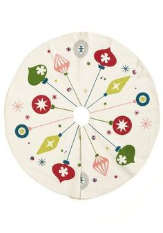Christmas tree skirt - Ornaments, mid century modern design  http://www.modcloth.com/shop/decorative-accessories/ornament-for-you-tree-skirt?utm_source=pinterest&utm_medium=share&utm_campaign=pdp_share