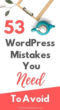 wordpress mistakes to avoid. Wordpress For Beginners, Learn Wordpress, Blogging For Beginners, Wordpress Free, Wordpress Admin, Wordpress Plugins, Wordpress Support, How To Start A Blog, Blog Tips