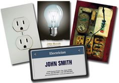 More Business Cards for Electricians