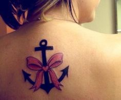 Anchor Tattoo. This is PERFECT! Anchor for my daddy (a fisherman), and bow because I was a total daddies girl. I am so getting this (or a version of it)! ♥