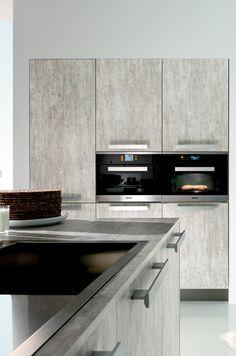 Hochwertig Designküche Im Beton Dekor Und Mit Edelstahl Elementen · Counter TopStones