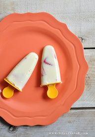 Homemade pudding pops. mmm!