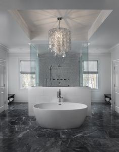 View the selection of properties currently available for sale as well as the gallery of completed homes Master Bathroom Vanity, Luxury Master Bathrooms, Bathroom Design Luxury, Design Hall, Bathroom Gallery, Luxury Homes Dream Houses, Ceiling Decor, Luxury Decor, Beautiful Bathrooms