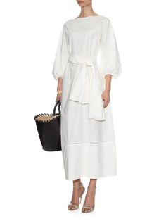 Leeco cotton-poplin maxi dress | The Row | MATCHESFASHION.COM