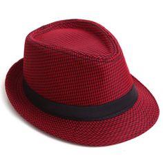 d8fb5449c59 New HDE Pinstripe Houndstooth Stingy Short Brim Fedora Gangster Cuban Style  Hat Cap.   5.99