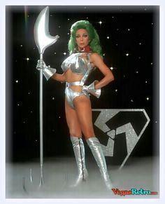 "The women of Star Trek TV series. ""Alien Warrior"" played by actres: Angelique Pettyjohn."