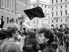 Saturday afternoon in Roma - anti Berlusconi march #1
