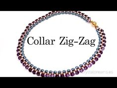 Collar Zig-Zag con Superduo y Pinch Beads