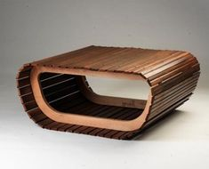 furniture made from recycled wooden blind slats