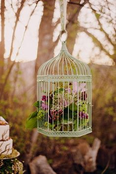 24 DIY Love Birds Wedding Theme Ideas | Confetti Daydreams - Suspend these whimsical hanging bird cages for an outdoor Love Birds wedding ♥ #DIY #Lovebirds #Wedding #Theme ♥  ♥  ♥ LIKE US ON FB: www.facebook.com/confettidaydreams  ♥  ♥  ♥