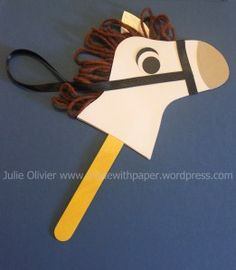 Horse made with Stocking Bigz die from Stampin'up