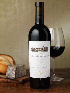 Robert Mondavi Reserve Wine Package Design by Pate International Wine Bottle Design, Wine Label Design, Wine Packaging, Packaging Design, Napa Valley Cabernet Sauvignon, Innovative Packaging, Wine Photography, Custom Bottles, Wine Bottle Crafts