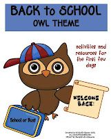 Back to School Pack Owl Theme (more themes available)