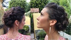 whimsical updo with lots of twists, knots, and braids