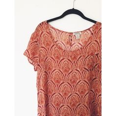 Lucky Brand Sheer Top PERFECT CONDITION! Never worn! The most soft, smooth, sheer and lightweight mTerial I've ever felt. So silky and comfortable, super flattering, and beautiful eclectic print. Size M but would fit a S as well. Gorgeous for fall with a black leather jacket! Lucky Brand Tops Blouses