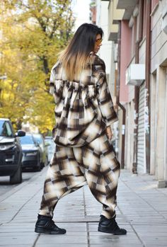 Brown Beige Shepherd's Plaid Shirt and Pants / by SSDfashion