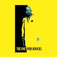 Camiseta Breaking Bad. Scarface, amarilla Camiseta Breaking Bad con la imagen de Walter White simulando el reconocible logo del film Scarface.