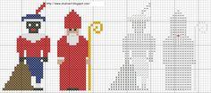 Sint & Piet Cross Stitch Pattern (Borduren - fijne motoriek)