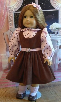 Pink and Brown 4 Piece Set for American Girl by MyGirlClothingCo