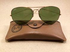 Vintage Ray Ban Large Metal II RB3 green Arista 62 [] 14 B&L Bausch Lomb USA