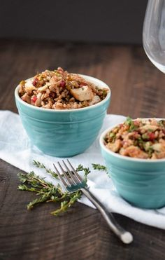 This Farro with Grilled Chicken, Pistachios and Pomegranate is super yummy and makes a great healthy lunch or dinner.