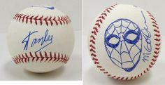 Stan Lee Signed Baseball w/ Michael Golden Sketch of Spider-Man - Stan Lee Holo