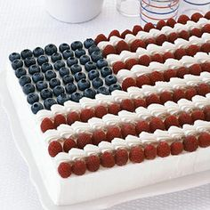 Flag Cake - 4th of July