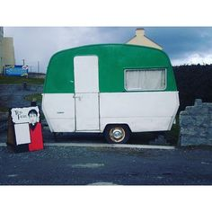 Yes it's THE caravan photographed by @aran_island_frames  For those who don't know right now Inis Mór has been converted into Craggy Island for Ted Fest which is taking place all this weekend.  Down with this sort of thing!