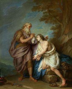 Abraham Preparing to Sacrifice Isaac (study) (Charles-Antoine Coypel IV)