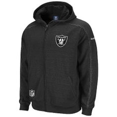 Reebok Oakland Raiders Sideline Static Storm Hooded Sweatshirt Medium by Reebok. Save 41 Off!. $49.99. Keep warm in style this football season with the Reebok® Sideline Static Storm hooded sweatshirt. It features your #1 NFL® team's name and logo embroidered on the chest, while the official NFL® shield adorns the front pocket.