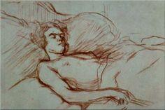 Sleeping Woman - Henri de Toulouse-Lautrec